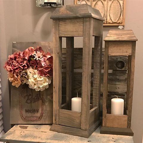 Diy Wooden Lanterns Pallet Craft Ideas Pinterest