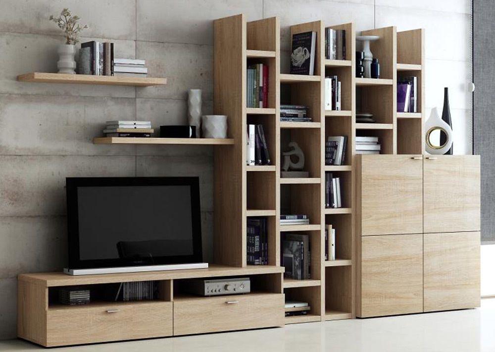 Regalsystem Wohnzimmer ~ Toro wohnzimmer regal wohnwand bücherregal eiche natur sägerau