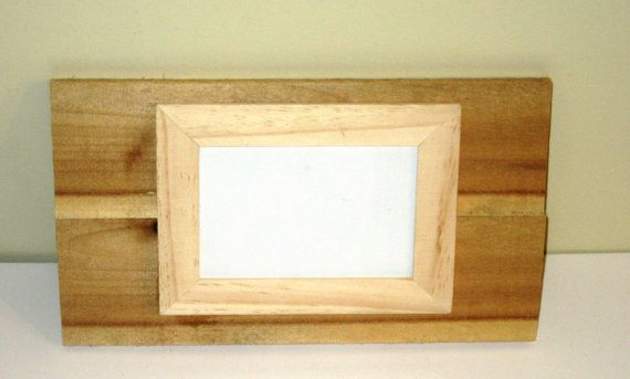 Single Reclaimed Wood Unfinished Frame Holds One 4x6 Photos With