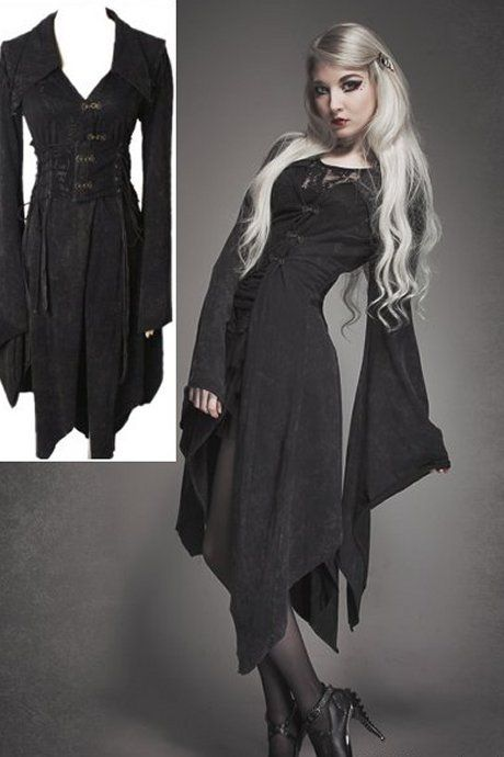 Sorrow Kimono Asymmetrical Corset Dress Jacket by Punk Rave