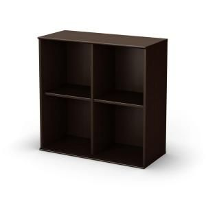 South Shore Stor It 4 Cubby Storage Unit In Chocolate Discontinued 5059772 Cubby Storage Storage Shelves Shelving Unit