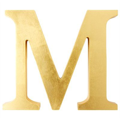 Letter M Home Decor Gorgeous Gold Letter  Mgreat Home Decor Gifti Even Want This One For Design Ideas