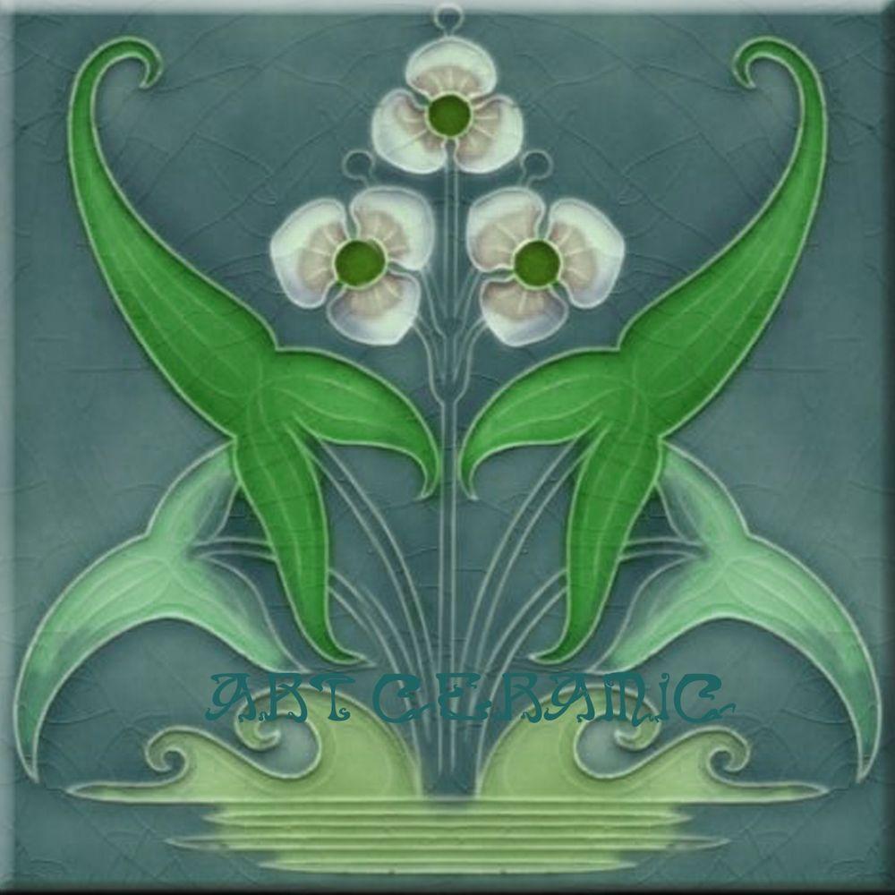 Art nouveau reproduction decorative ceramic tile 122 art nouveau art nouveau reproduction decorative ceramic tile 122 dailygadgetfo Choice Image