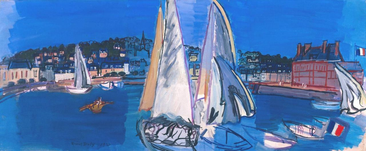 Deauville, Drying the Sails by Raoul Dufy