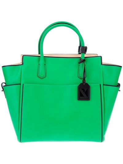 cbdad09740 Green leather tote by Reed Krakoff in farfetch.com