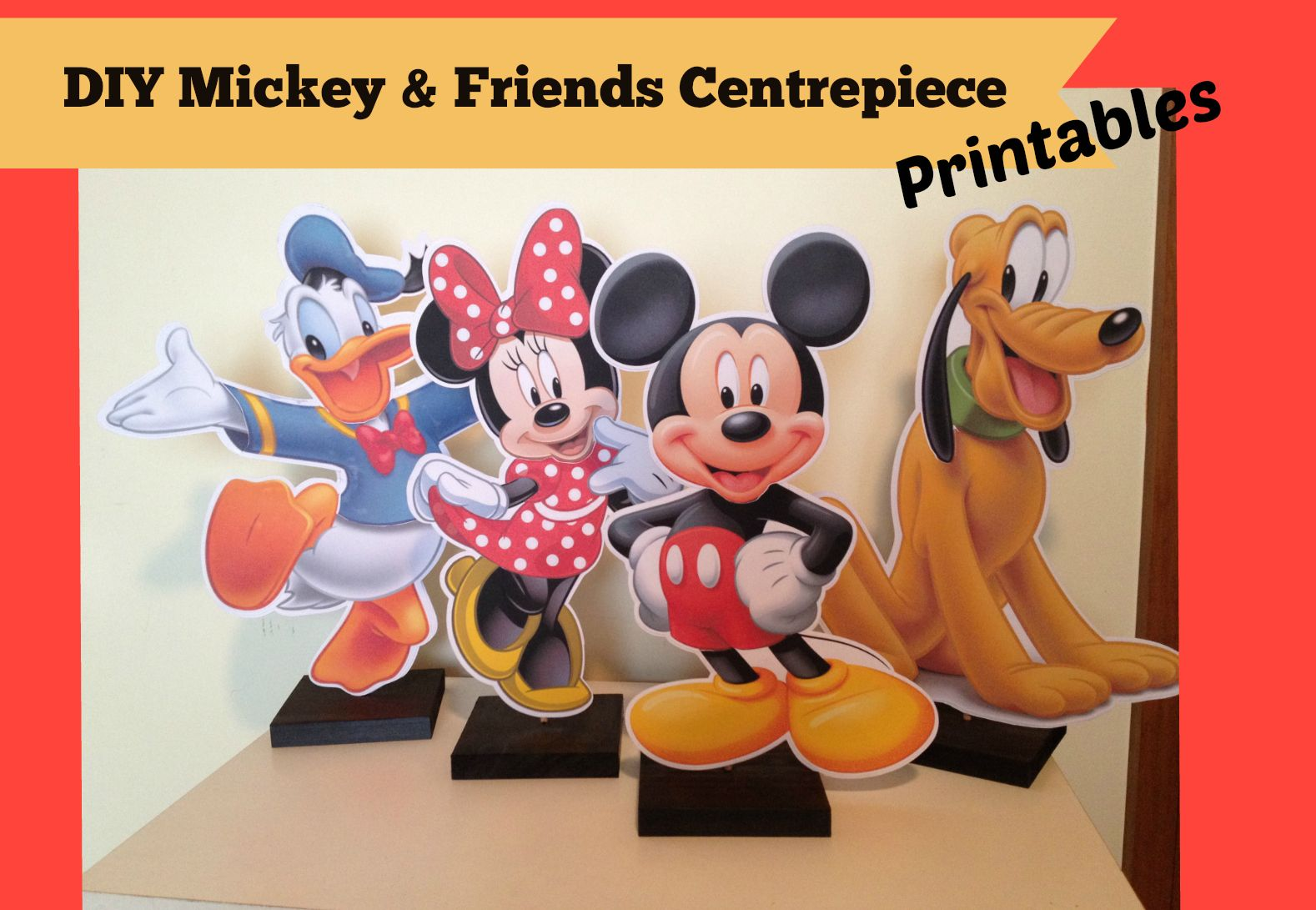 How to make Mickey Mouse Clubhouse Charactor Centrepieces, Free ...