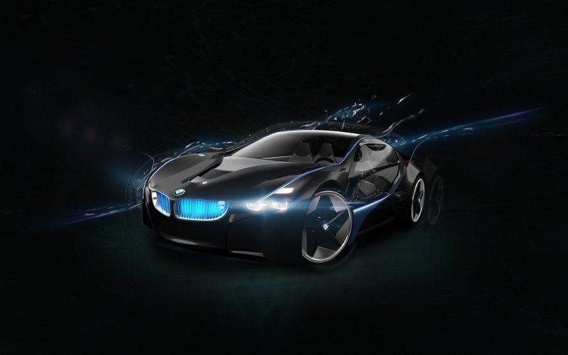 Bmw Vision Next 100 Black Car Digital Art Super Cars
