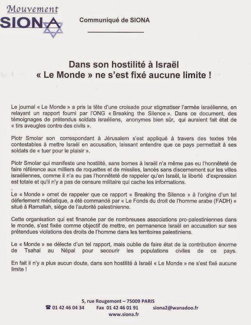 Dans Son Hostilite A Israel Le Monde Ne S Est Fixe Aucune Limite Le Monde Israel Croisade