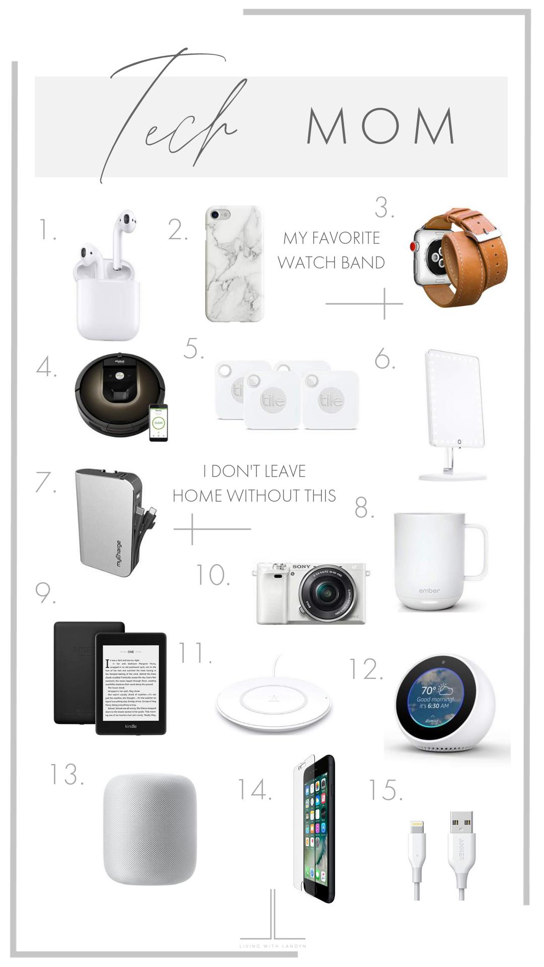 Tech Mom Gift Guide Gift Guide Tech Cool Tech Gifts Holiday Tech Gifts