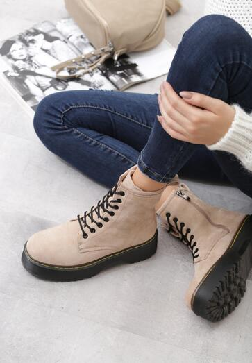 Obuwie Damskie Jesien 2019 W Born2be Pl Shoes Combat Boots Boots
