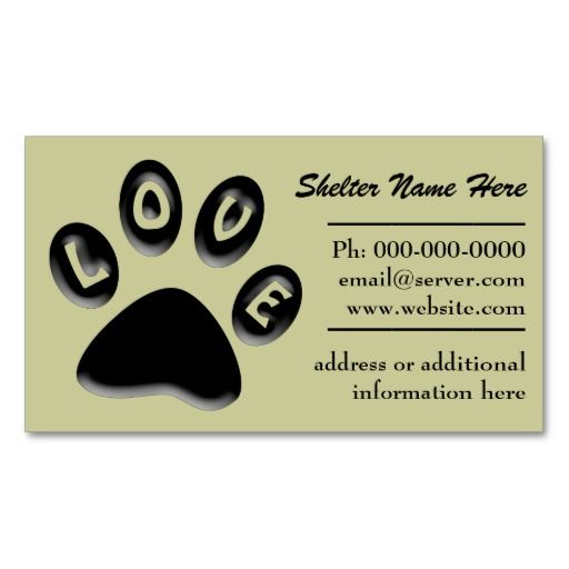 Paw Print Pet Shelter Rescue Business Card Zazzle Com Paw Print Animal Shelter The Shelter Pet Project