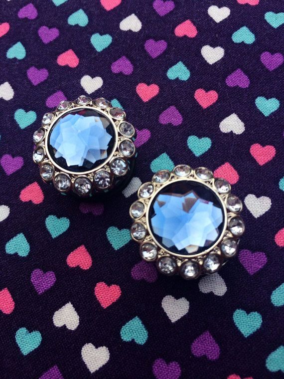 Blue Brilliant Sparkles White Body Single Flared Ear Plug Sold as a Pair