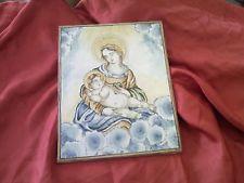 Ceramica di castelli abruzzo piastrella con madonna e bambino