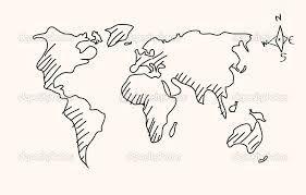 afbeeldingsresultaat voor wereldkaart tekenen kaart