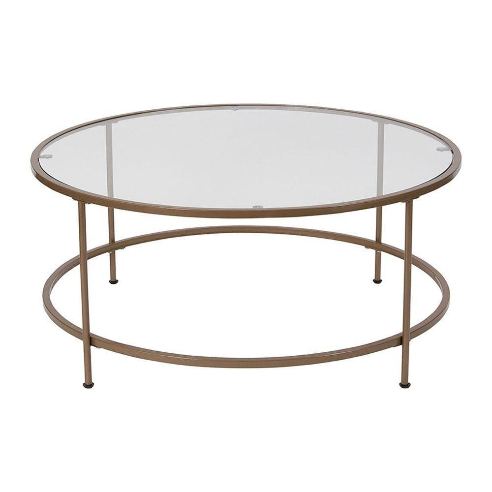 Silver Orchid Allison Matte Gold Frame Glass Coffee Table Clear Gold Coffee Table Round Glass Coffee Table Coffee Table [ 1000 x 1000 Pixel ]