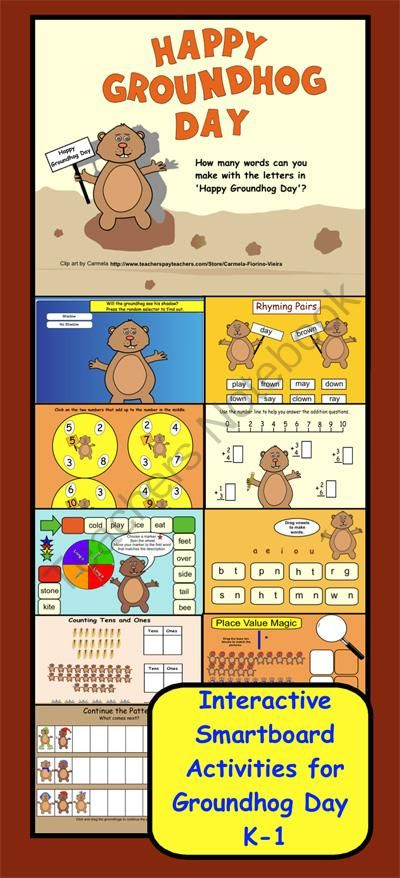 Kindergarten Calendar Interactive Whiteboard : Groundhog day giveaway enter for your chance to win of