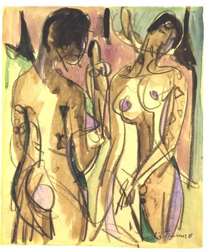 Three Nudes in the Forest (1928) - Ernst Ludwig Kirchner