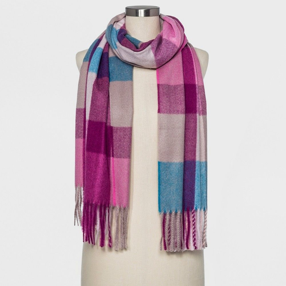 2c248b78343 Women's Plaid Blanket Scarf - A New Day™ Cream | Products | Plaid ...