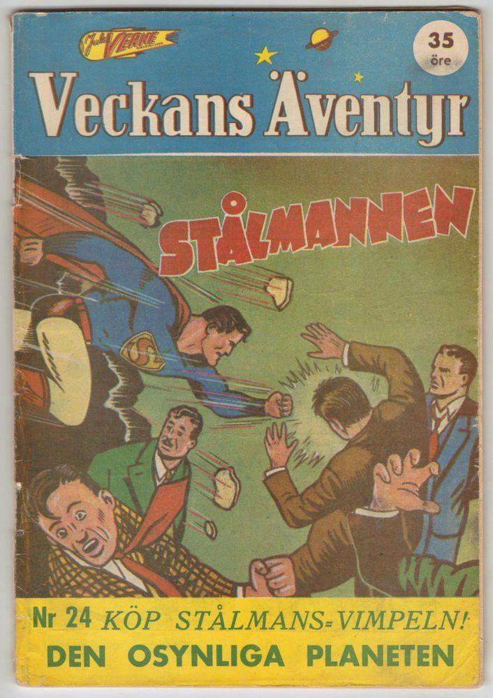 VECKANS ÄVENTYR #24 SCANDINAVIAN VARIANT Classic Superman Cover! DC 1942! RARE #DCCOMICS https://t.co/I4o77QnBxU https://t.co/FZDGXcOY7j