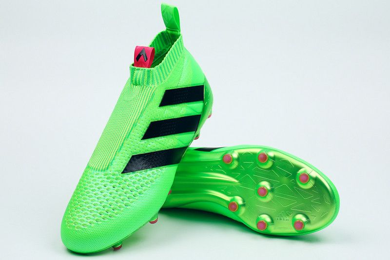 low priced 089b1 8809a Adidas ACE 16+ PURECONTROL FG Soccer Cleats Solar Green Shock Pink Black