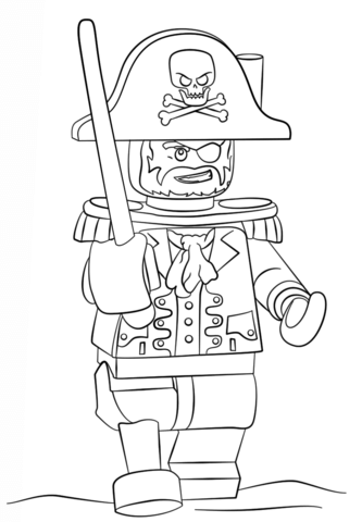 Lego Pirate Coloring page | Lego Pirates | Pinterest