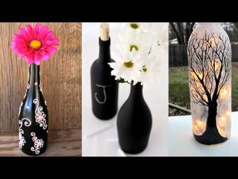 Decoration Ideas With Glass Bottles Upcycled Diy Glass Bottle Art  Bottle Art Idea Paint And Glass