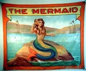 The Mermaid Vintage Freak Show Posters