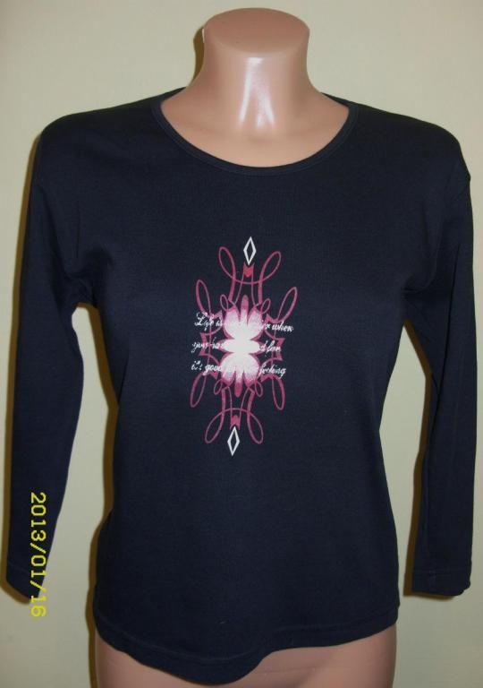 Bluzka Damska Czarna Rekaw 3 4 3710002175 Oficjalne Archiwum Allegro Fashion Sweatshirts Sweaters