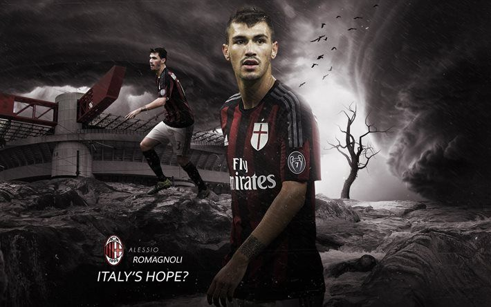 Download Wallpapers Alessio Romagnoli Ac Milan Football Italy