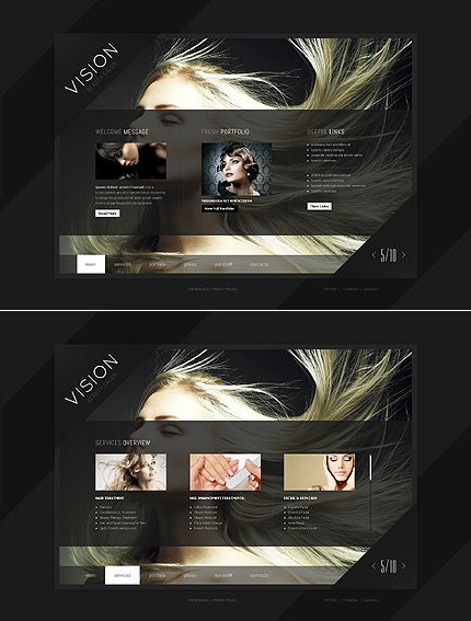 beauty salon website template pinterest template ui design and