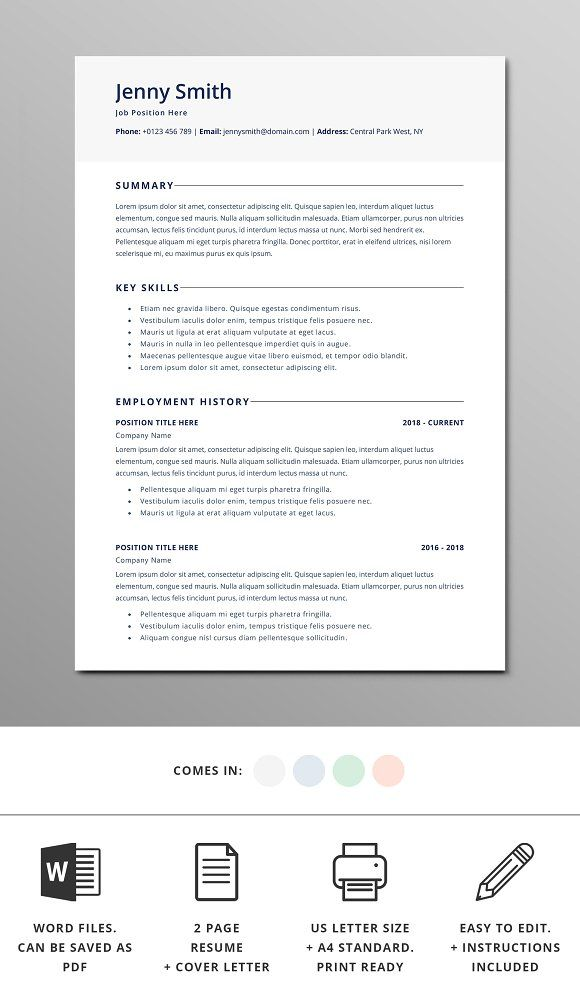 resume template word modern clean cv template resume words and