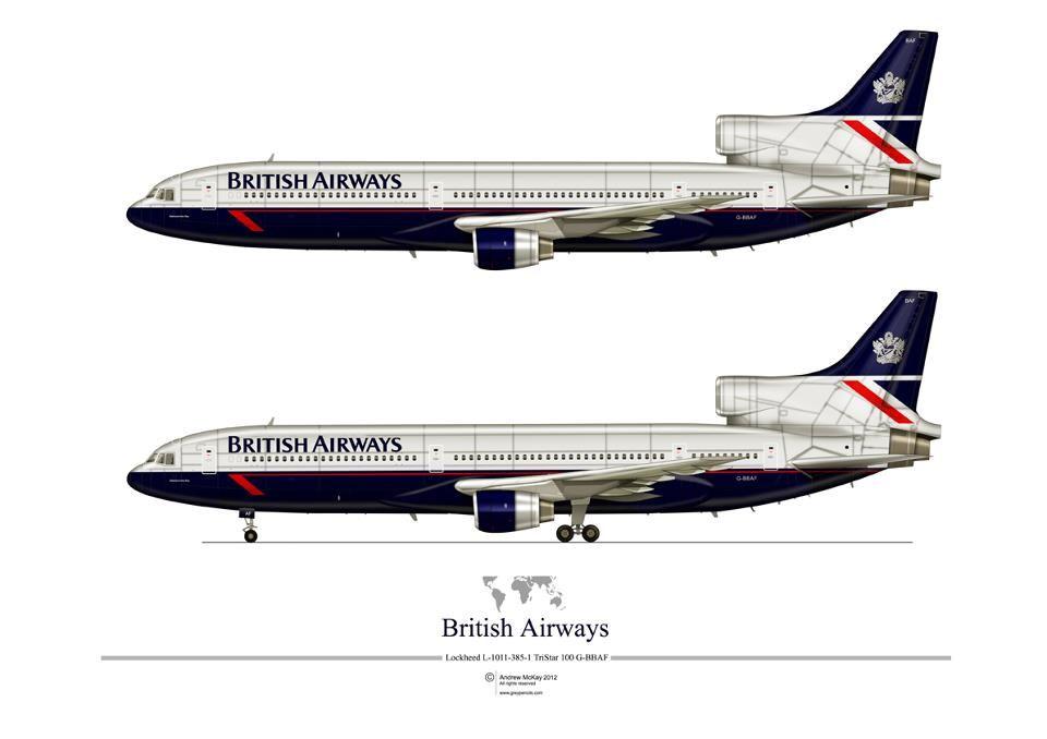 British Airways L1011. Librea posterior a la privatización de la aerolínea