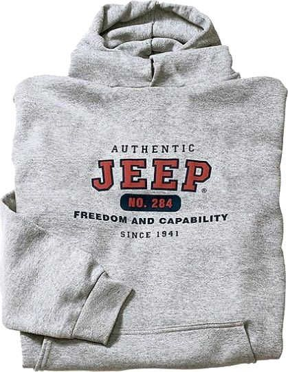 34341a3fa05f Jeep Clothing Authentic Jeep Sweatshirt in Grey