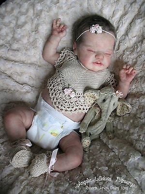Lil Treasure~Laura Lee Eagles~ Reborn Newborn Baby Girl Sold Out LE Kit~Adorable