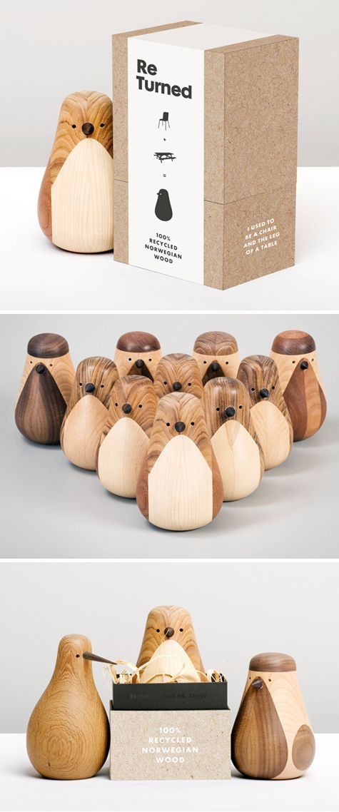 Norwegian designer Lars Beller Fjetland creates these Re-turned birds and owls out of trashed or unused pieces of woods.