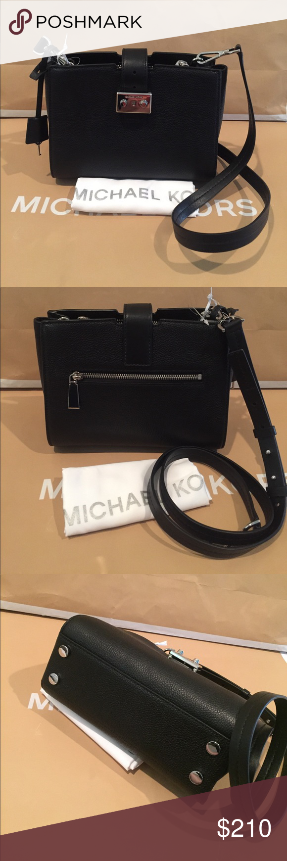 b4ad1423b5d5 🌹Michael Kors Bond Medium Leather Messenger Bag 100% Authentic The Bond  Messenger from Michael