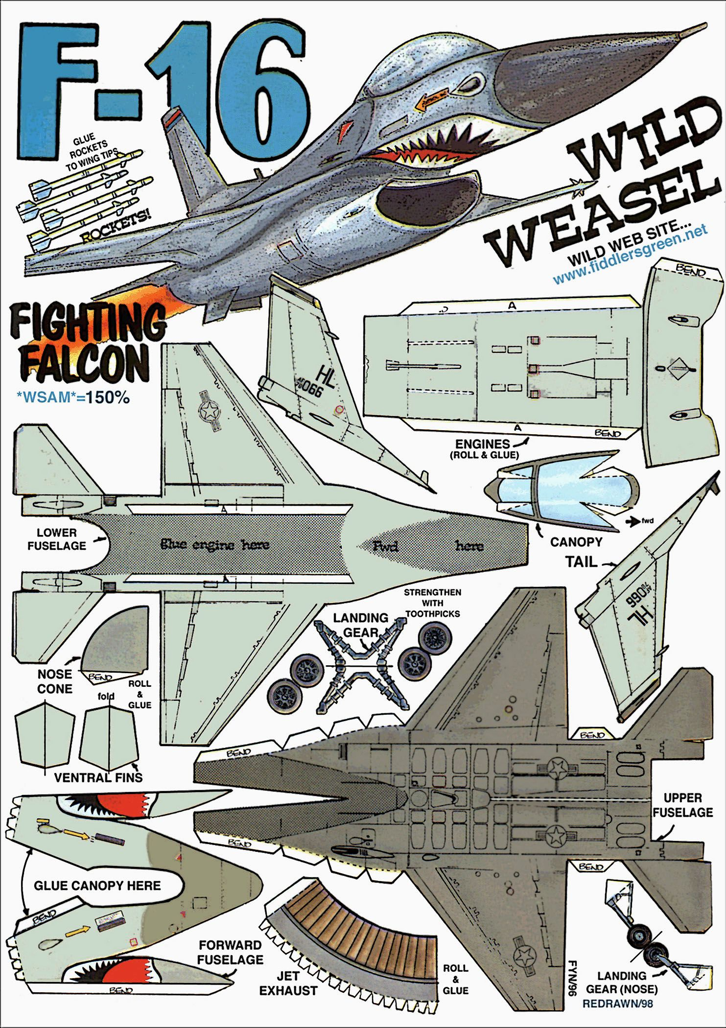 F 16 fighting falcon instruction http www for Net making instructions