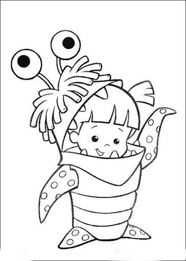 Monstruos S A Monster Coloring Pages Cartoon Coloring Pages Disney Coloring Pages