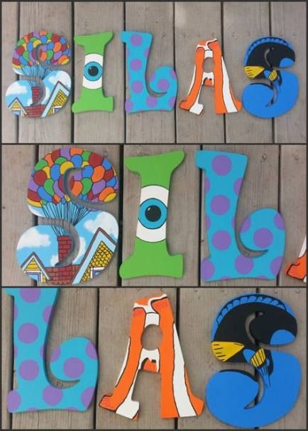 41 Best Ideas Painting Wood Letters Name Painted Wood Letters Painting Wooden Letters Wooden Letters Diy