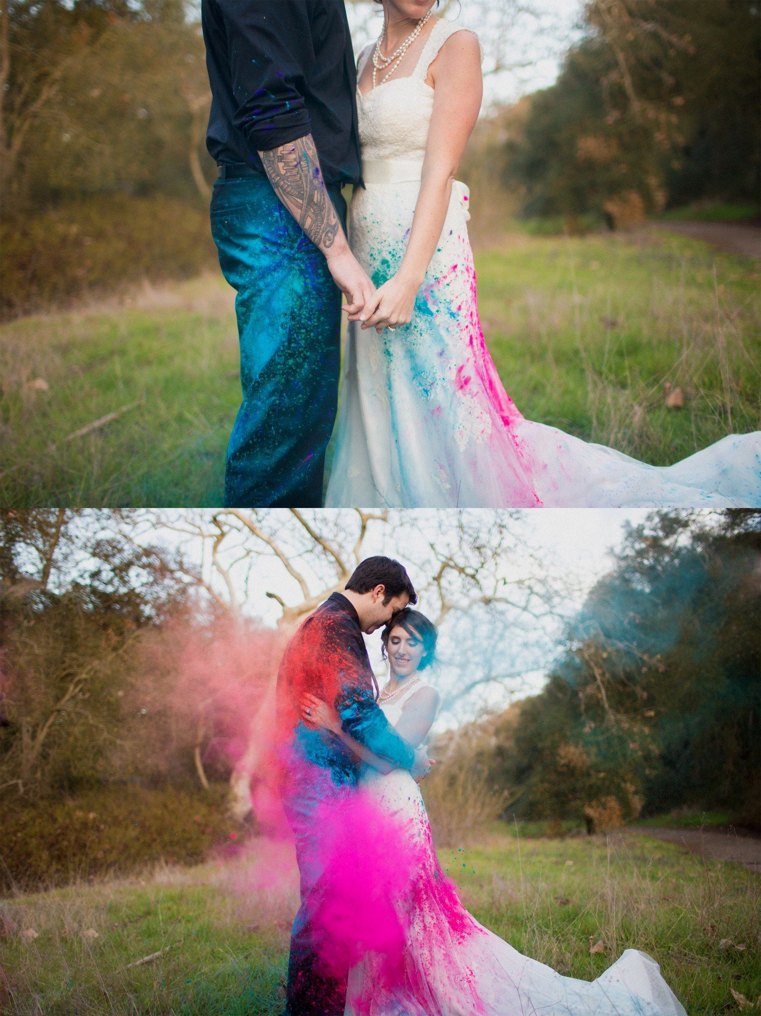 Trash The Dress Shoot. Creative New Way To Have Fun While