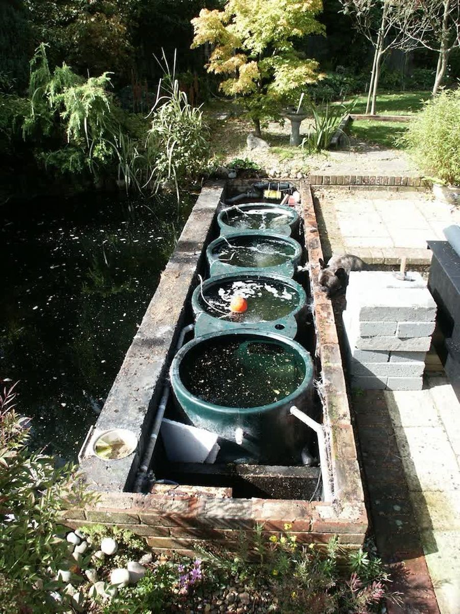 Koi pond filter system designs house exterior and for Small pond filter design