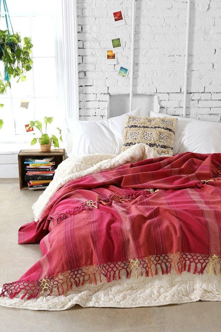 Magical Thinking Woven Fringe Bed Blanket #urbanoutfitters