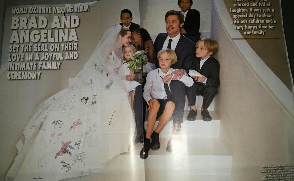 More Angelina Jolie Brad Pitt Wedding Photos