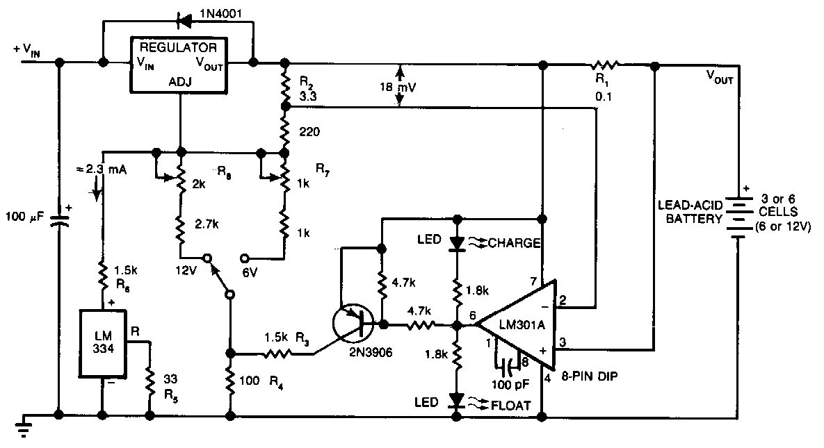 battery charger using lm350