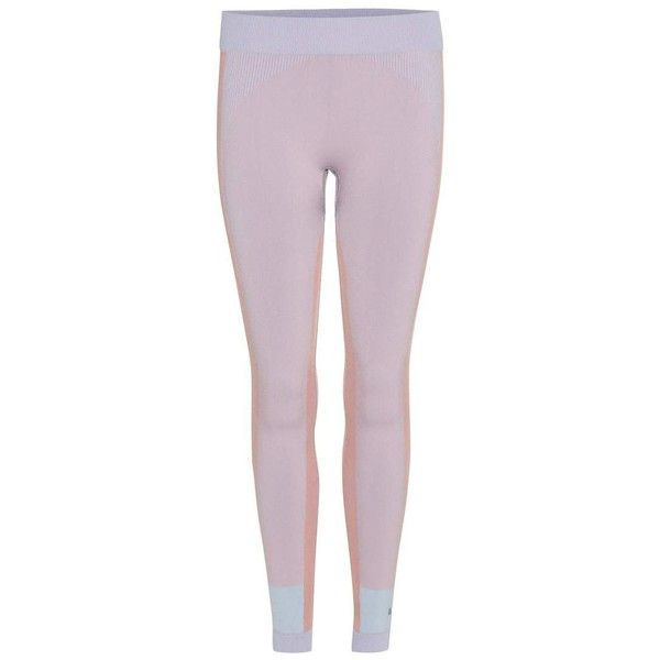 Adidas by Stella McCartney Tight Leggings ($110) ❤ liked on Polyvore featuring pants, leggings, pink, pink leggings, adidas, adidas trousers, purple pants and pink pants