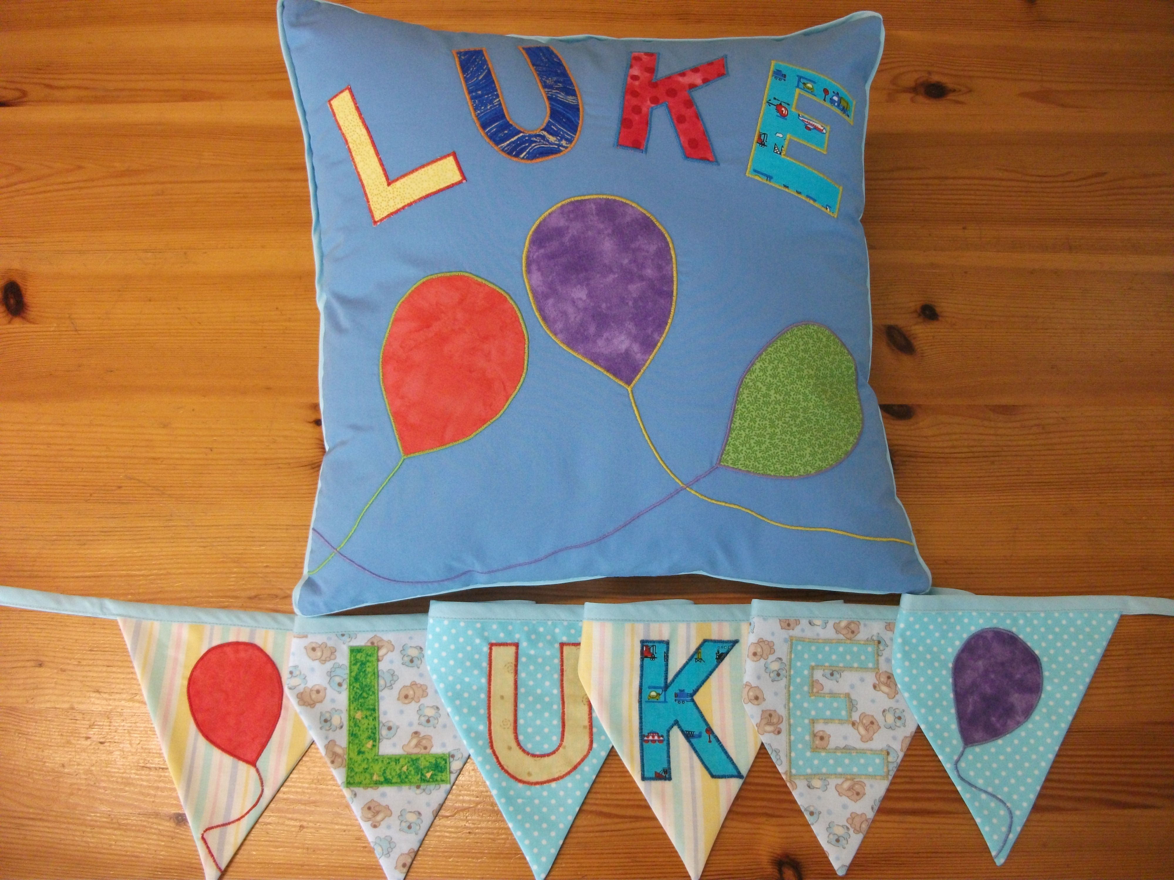A baby-shower present for Luke, made at www.sewpotty.co.uk