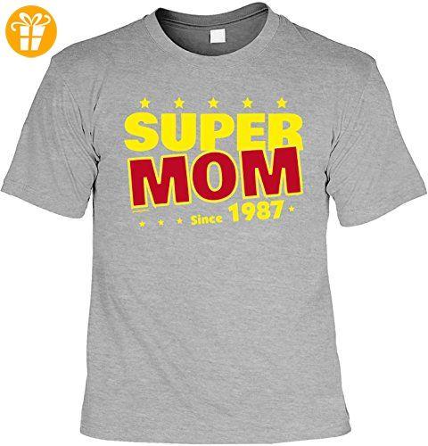 T-Shirt zum 30. Geburtstag Super Mom since 1987 Geschenk zum 30 Geburtstag  30