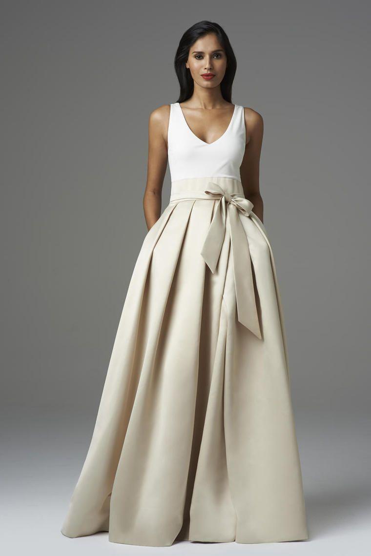 b3ce4f6c9 2014 V cuello una línea de baile de piso Longitud del vestido con cinta de  raso USD 119.99 VUP329L9DB - VoguePromDressesUK