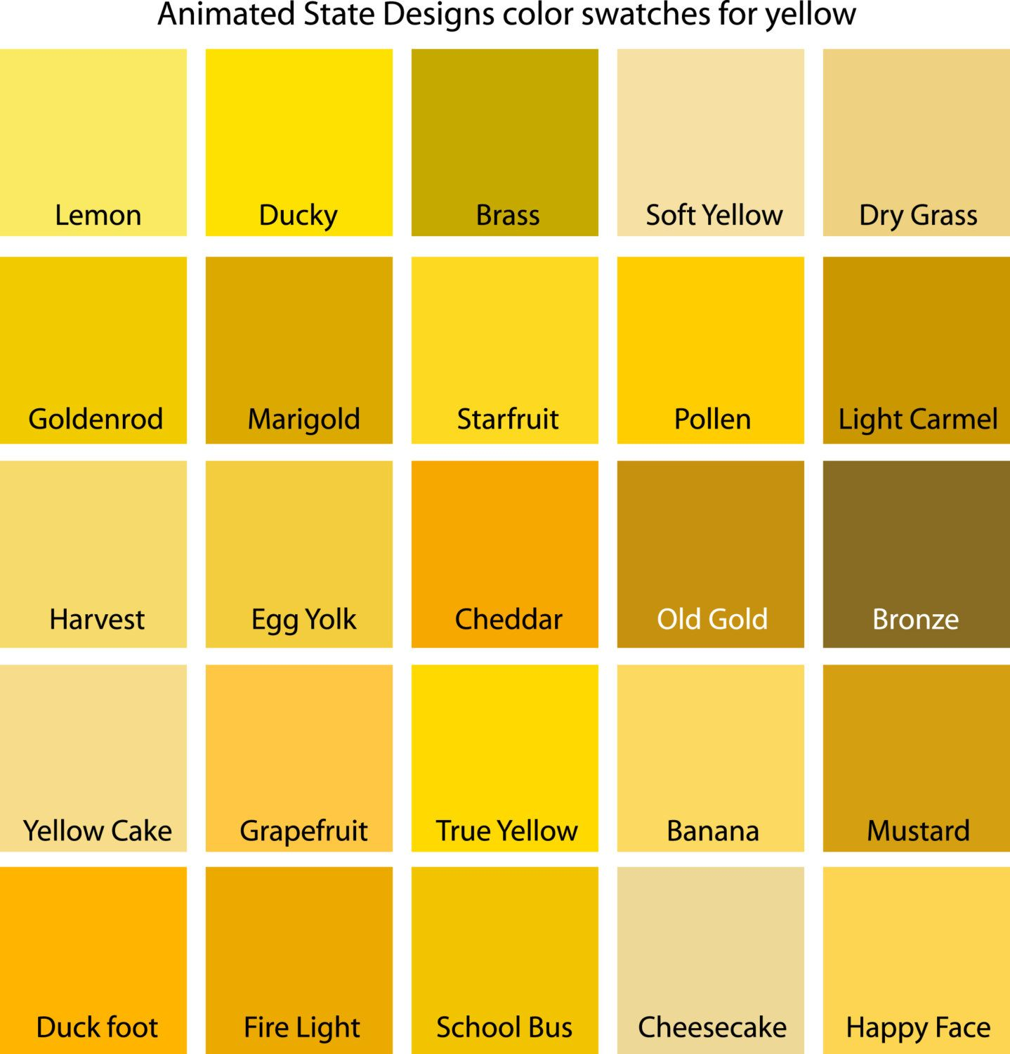 Color Swatches For Cyan Yellow Yellow Green And Green Etsy Yellow Bedroom Walls Yellow Bedroom Yellow Paint Colors