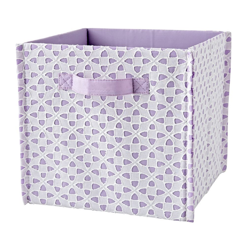 Shop Purple Storage Cube Bin. Bright, Chic And Perfect For Stylish Storage,  This Patternly Cube Bin Has A Decorative Eyelet Design.